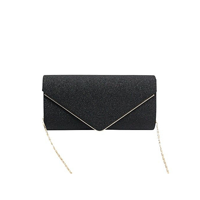 6895e6d451a UJ Women Clutch Bag Wedding Party Night Club Bling Sequined Evening For Lady -black