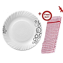 Misty Drop Glass Dinner Plates (+ Free Gift Hand Towel).
