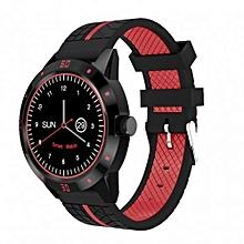 "DI02 - 1.3"" Smart Watch For Android/IOS 128MB/64MB 230mAh G-sensor - Black+Red"