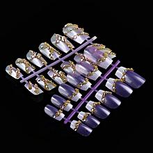 144pcs Mixed Set False Nail Tips Artificial Fake Nails Art Acrylic Manicure Gel-colorful