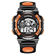 Children LED Waterproof Digital Watches -Orange
