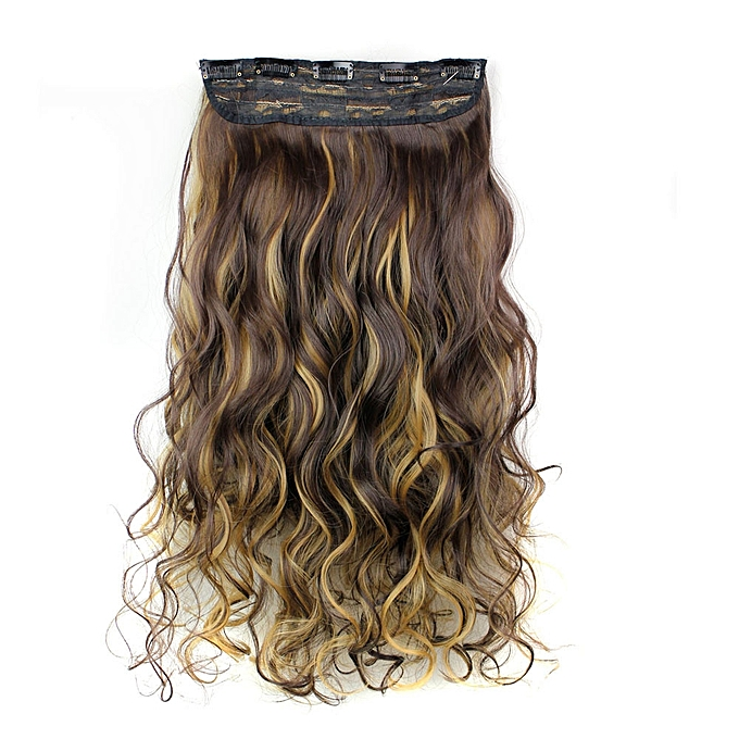 Buy Generic Shioakp 5pcs Clip False Hair Synthetic Hair Extension