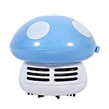 Cute Mini Mushroom Shape Laptop Keyboard Desktop Keyboard Corner Dust Vacuum Cleaner Sweeper New (Blue)