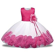 Comfortable  Child Dress Girl Dress Baby Princess Dress Skirt Flower Petals Puffy Dress Child Dress