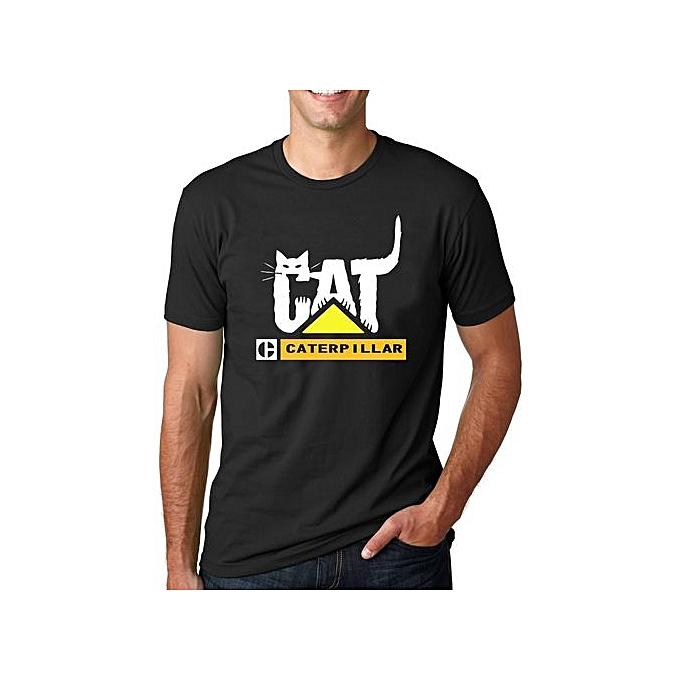 0382d814cb73 Cat Caterpillar Funny Cat Caterpillar Cat Logo Mens T-shirt Cotton Short  Sleeves Printes Shirt