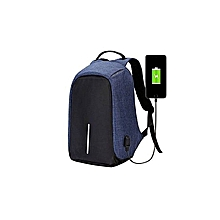 Generic Laptop Bag - Anti Theft Backpack - BLUE