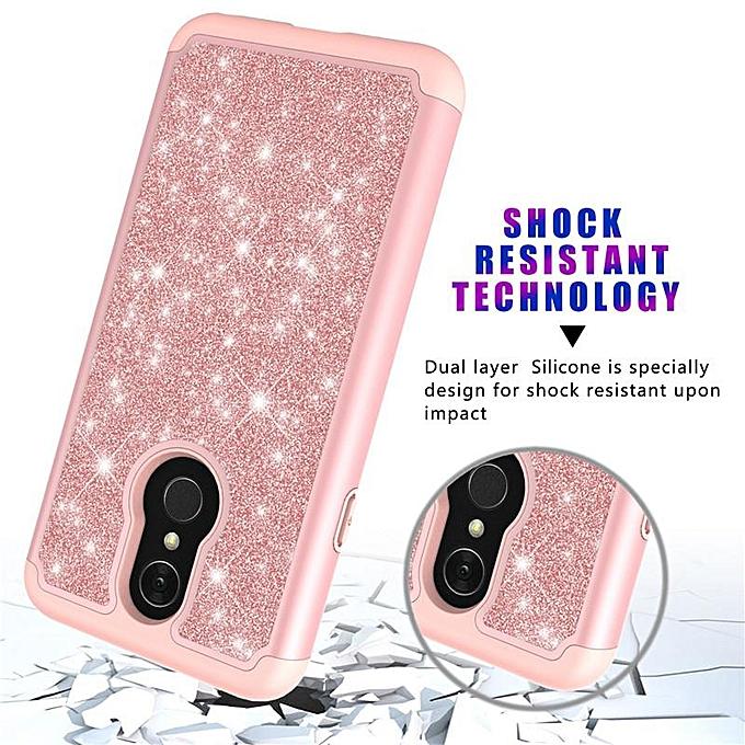 SilicaGel + PC Shine Beauty Case Cover for LG Q7 / Q7 Plus