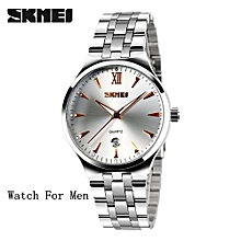 Suitable SKMEI Mens Watches Top Brand Luxury Fashion Casual Watch Men's Quartz Watches Dress Wristwatches Steel Quartz-Watch Reloj Hombre-gold For Man