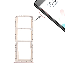 2 x SIM Card Tray + Micro SD Card Tray for OPPO A5(Purple)