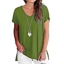 999f9111af4efb Women  039 s Short Sleeve T Shirt Basic Tee Tops Plain Casual Tees Shirt