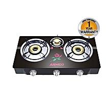 GC-8370GX - Tabletop - 3 Burner - Glass top - Black