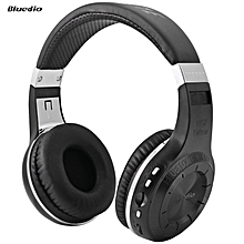 LEBAIQI Bluedio H+ H PLUS Turbine Bluetooth 4.1 Stereo Wireless Headphones Support TF Card with Mic (Black)