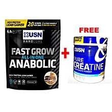 Fast Grow Anabolic 1Kg Chocolate Peanut Butter With Free Creatine 150g