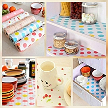 3M Kitchen Table Drawer Shelf Liner Contact Paper Waterproof Mat Pad No Slid - Blue Dot