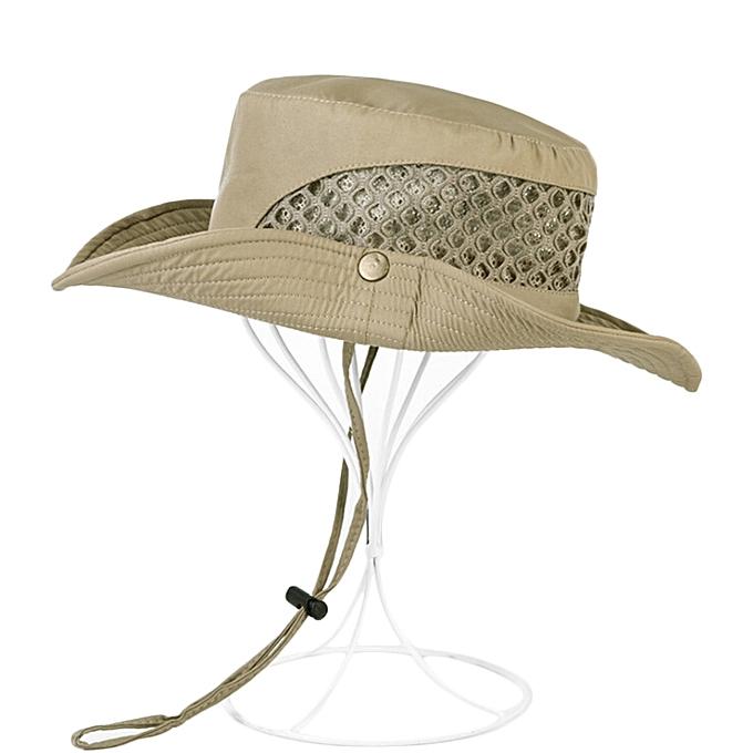 Outdoor Summer Shade Bucket Hat Men Foldable Anti-UV Hat Fishing Climbing  Sun Hat 6cdf67a9db4