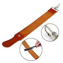 KaLaiXing Brand Straight Razor Sharpener Strap Belt. Genuine Leather Strop Belt With Sharpening Polishing For Knife Straight Razor By-58cm*5cm