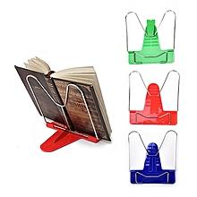 1Pc Reading Book Shelf Reading Portable Foldable Adjustable Bookend Stand Reading Book Stand Document Holder Base School Office Stationery