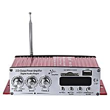 Kinter MA - 120 12V HiFi Audio Amplifier Support FM SD USB Input-RED