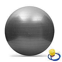 Anti-burst Yoga Ball, Extra Big 75cm Stability Ball, Anti-Burst Balance Exercise Ball with Foot Pump for Body Core Abs Workout,Balance Balls Exercise - Grey