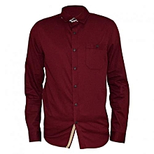 Maroon Men's Formal Shirt