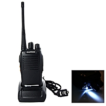 BF-777S UHF Walkie Talkie 16 Channels with Flash Light - Black