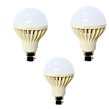 LED Intelligent LED Emergency Bulb,Rechargeable bulb - 7W, 3 pcs bundle - White