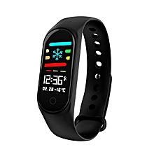 0.96 Inch Smart Watch Bracelet M3 Color LED Sports Blood Pressure Smart Band black