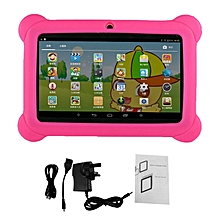 7 inch Children Kids Tablet Dual Camera Tablet With Cover for Android 4.4 pink