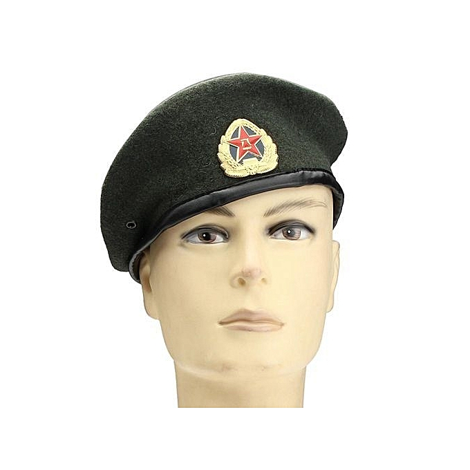 de11118f NEW Vintage Military Soldier Army Beanie Hat Unisex Men Women Wool Beret Cap  Green
