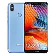 DOOGEE BL5500 Lite, 2GB+16GB, Dual Back Cameras, DTouch Fingerprint, 5500mAh Battery, 6.19 inch U-notch Android 8.1 MTK6739WA Quad Core up to 1.3GHz, Network: 4G,  OTA, Dual SIM(Blue)