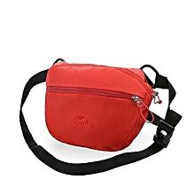 2L Waist Bags Handbag Sports Bag Outdoor Sports Mens Women Black Hiking Camping Cycling Messenger Bag(Red)