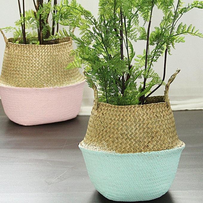 ... Pliable Fleur Panier Bambou Plante Jardin Vêtement Lavage Stockage  Rangement Pot ... e7a26ca21c9