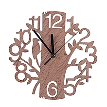 Wooden tree clock wall simple wooden clock wood