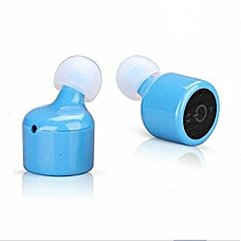 Headset Mini True Wireless Bluetooth Twins Stereo In-Ear Headset Earphone Earbuds BU-Blue
