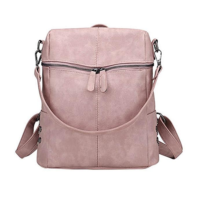 guoaivo Teenage Girls School Bags Fashion Vintage Solid Shoulder Bag ac57628aed