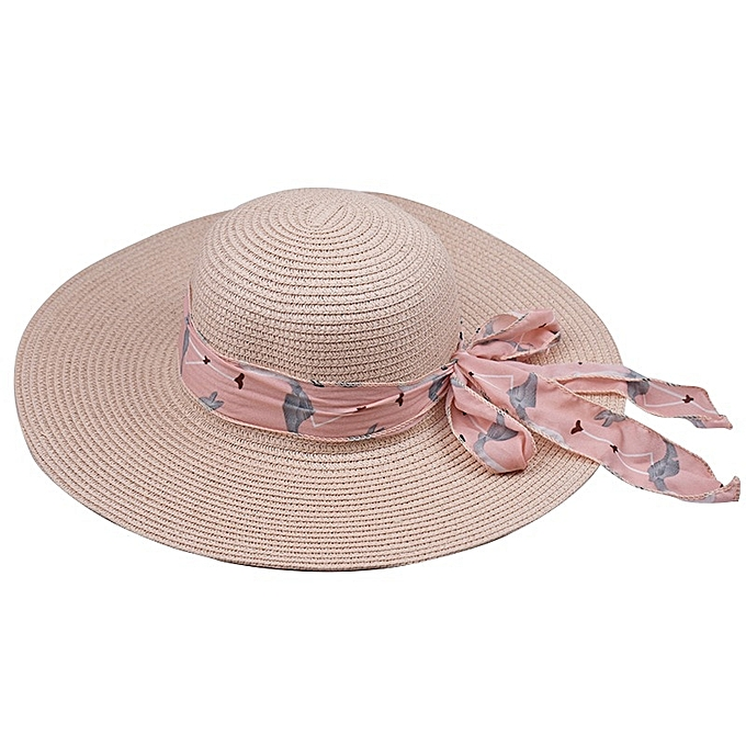 97d3fdc14 New Hot Sale Round Top Raffia Wide Brim Straw Hats Summer Sun Hats for Women  With