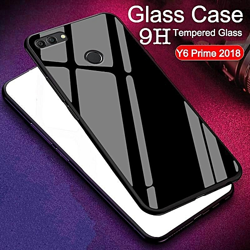 big sale ede40 94d63 Glass Case For Huawei Y6 Prime 2018 Cover Full Protection Tempered Glass  Back Cover Casing For Huawei Y6 Prime Housing