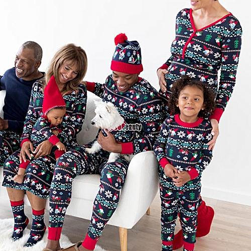 Buy Sunshine Family Matching Pajamas Set Christmas Series Print Long ...
