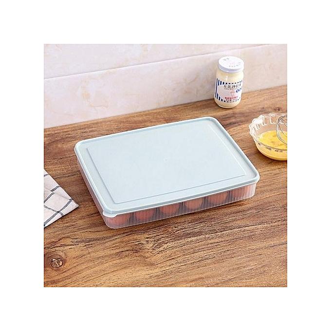 ... 熊1Pc Egg Storage Holder Box 24 Grid Plastic Eggs Tray For Home Refrigerator Organizer ...