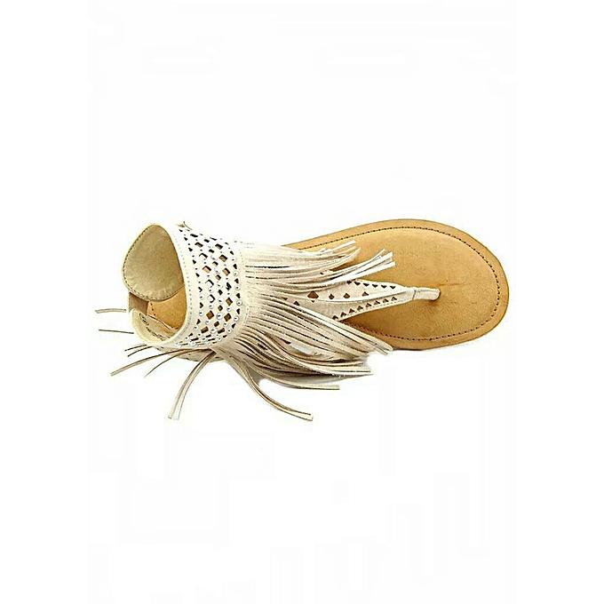 35a393455b1b Women Beauty Bohemian Retro Tassel Flat Sandals Flip Flop T Strap Shoes .