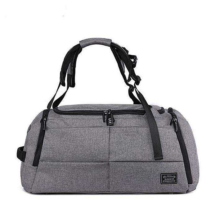 723fc8b9e688 Multifunctional Men Women Luggage Travel Bag Large Capacity Duffle Bag  Satchel Shoulder Gym Sports Handbag with Shoes Storage(Gray)