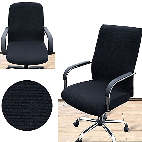 Arm Chair Cover Three Sizes Office Computer Side Zipper Design Recouvre Chaise Stretch Rotating