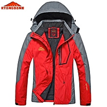 Ryangdane Outdoor Women Jacket Windbreaker Water-resistant Sport Coat Camping Climbing Outerwear Red
