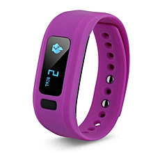 Bluetooth Smartband Fitness Tracker For IPhone IOS Android  (Color:Purple)