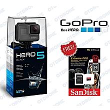 GoPro Hero 5 Black (Free Sandisk 64gb Extreme Pro Micro SD Card) BDZ