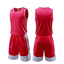 Customized Blank Brand Men's Casual Basketball Team Sports Jersey Set-Pink
