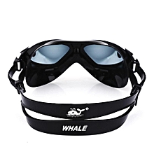 Whale Adult Large Frame Anti-fog UV Protection Swimming Glasses With Myopia Lens