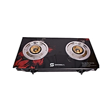 NL- SB-2010 - Automatic 2-Burner Table Top Gas Cooker - Black
