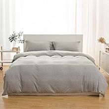 XIAOMI 3Pcs Simple Skin Care Soft India Cotton Fiber Knit Fabric Bedding Sets Dual Pillow