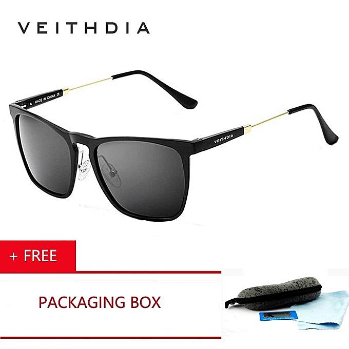 7cbe212904a 2018 Veithdia Brand Mens Retro Aluminum Mirrored Sunglasses Polarized  Vintage Eyewear Accessories Sun Glasses Blue PA6368
